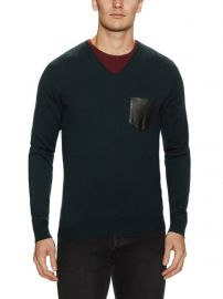 The Kooples leather pocket sweater at Nordstrom Rack