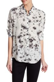 The Kooples printed button up silk shirt at Nordstrom Rack