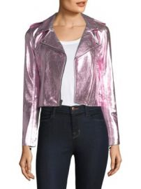 The Mighty Company - Metallic Leather Jacket at Saks Fifth Avenue