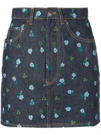 The Mini floral print skirt at Farfetch