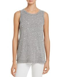 The Muscle Faux Pearl Tee by Current Elliott at Bloomingdales