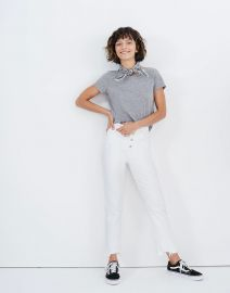 The Perfect Vintage Crop Jean in Tile White at Madewell