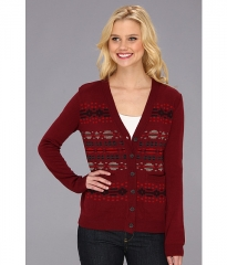 The Portland Collection by Pendleton Pilot Rock Merino Cardigan Rust Multi at 6pm