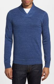 The Rail Trim Fit Mand233lange Shawl Collar Sweater at Nordstrom