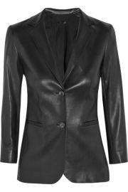 The Row  Nolborn leather blazer at Net A Porter