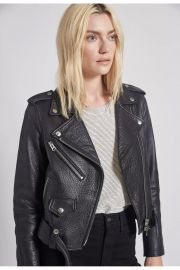 The Shaina Leather Biker Jacket by Current/Elliott at Current Elliott
