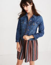 The Shrunken Stretch Jean Jacket at Madewell