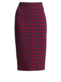 Thea Check Wool Pencil Skirt at Saks Fifth Avenue