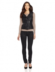Thea Prefecto Leather Vest by French Connection at Amazon