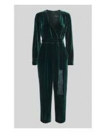 Thea Wrap Velvet Jumpsuit at Whistles
