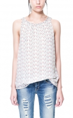 Theas bird print top at Zara at Zara