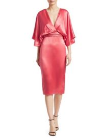 Theia Quarter-Sleeve Cocktail Dress at Saks Fifth Avenue