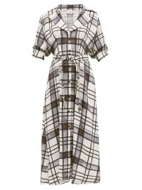 Theodora Checked Shirtdress by Aje at Matches
