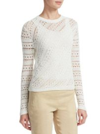 Theory - Crochet Crewneck Sweater at Saks Off 5th