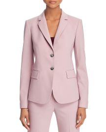 Theory Carissa Classic Stretch-Wool Blazer in Dusty Lilac at Bloomingdales