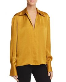 Theory Spread Collar Blouse  at Bloomingdales
