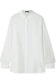Theory - Classic printed silk-satin twill shirt at Net A Porter