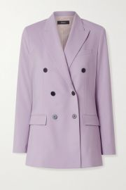 Theory - Double-breasted wool-blend blazer at Net A Porter