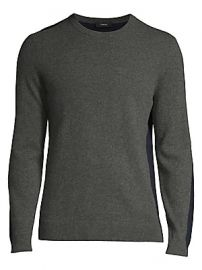 Theory - Evers Long-Sleeve Colorblock Cashmere Sweater at Saks Fifth Avenue