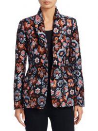 Theory - Floral Jacquard Jacket at Saks Off 5th
