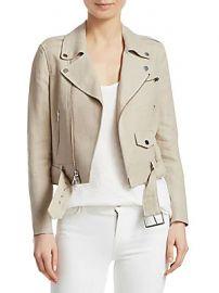 Theory - Linen Moto Jacket at Saks Fifth Avenue