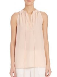 Theory - Livilla Tie-Front Silk Blouse at Saks Off 5th