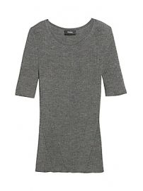 Theory - Moving Rib Wool Tee at Saks Fifth Avenue