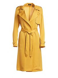 Theory - Oaklane Modern Silk Trench Coat at Saks Fifth Avenue