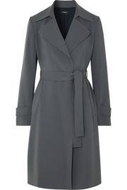 Theory - Oaklane belted crepe coat at Net A Porter
