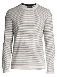 Theory - Ollis Striped Crewneck Sweater at Saks Fifth Avenue