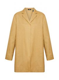 Theory - Overlay Lux Linen Coat at Saks Fifth Avenue