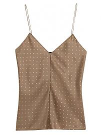 Theory - Polka Dot Silk Camisole at Saks Fifth Avenue