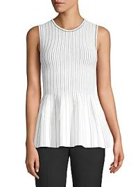 Theory - Ribbed Peplum Top at Saks Off 5th