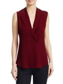 Theory - Shawl Collar Silk Shell at Saks Fifth Avenue