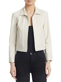 Theory - Shrunken Leather Jacket at Saks Fifth Avenue