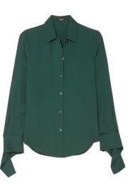 Theory   Silk-crepe shirt at Net A Porter