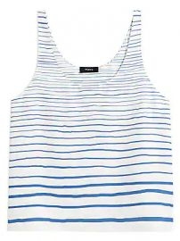 Theory - Stripe Silk Tank Top at Saks Fifth Avenue