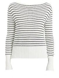 Theory - Striped Boatneck Sweater at Saks Fifth Avenue