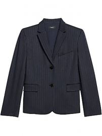 Theory - Striped Knit Shrunken Blazer at Saks Fifth Avenue