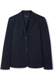 Theory - Striped jacquard blazer at Net A Porter