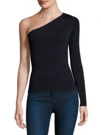 Theory - Uleera One-Shoulder Bodycon Top at Saks Fifth Avenue
