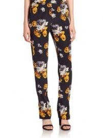 Theory - Viewpine Silk Floral-Print Pants at Saks Fifth Avenue