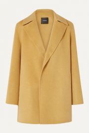 Theory - Wool and cashmere-blend coat at Net A Porter