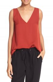 Theory  Narcy Z  V-Neck Silk Georgette Tank at Nordstrom