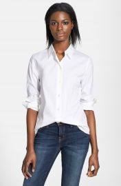 Theory  Tenia  Cotton Blend Blouse at Nordstrom