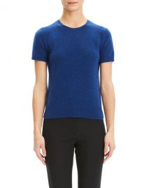 Theory Basic Short-Sleeve Cashmere Tee at Neiman Marcus