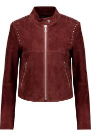 Theory Bavewick SM Wilmore studded suede jacket at The Outnet