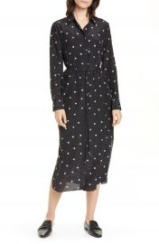 Theory Belted Silk Shirtdress   Nordstrom at Nordstrom