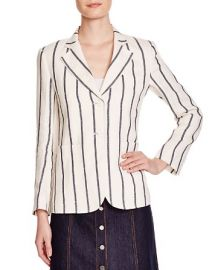 Theory Brightdale Striped Linen Blazer at Bloomingdales