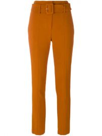 Theory Cigarette Belted Trousers - Farfetch at Farfetch